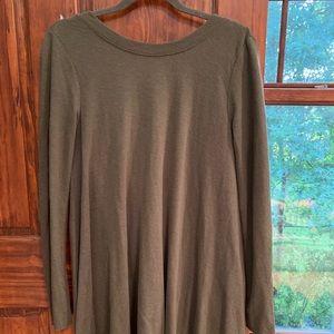 Free People Tunic Sweater Size XS Green